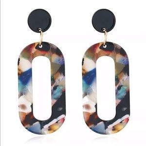 ‼️NEW‼️Skinny Oval Drop Earrings Multicolor